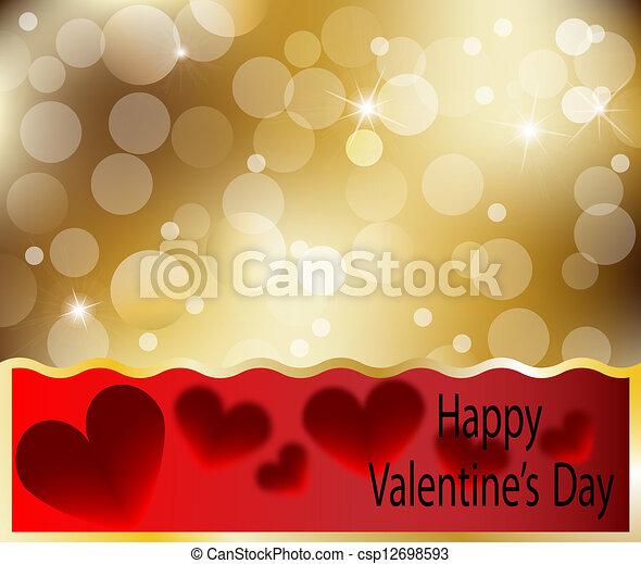 Happy Valentines Day heart card - csp12698593