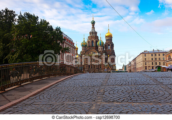 Church of the Savior on Spilled Blood in St. Petersburg  - csp12698700