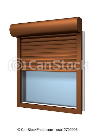 Stock illustration von fenster mit rolle verschlu for Fenster 600x800