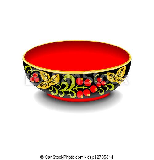 Russian Khokhloma bowl  - csp12705814