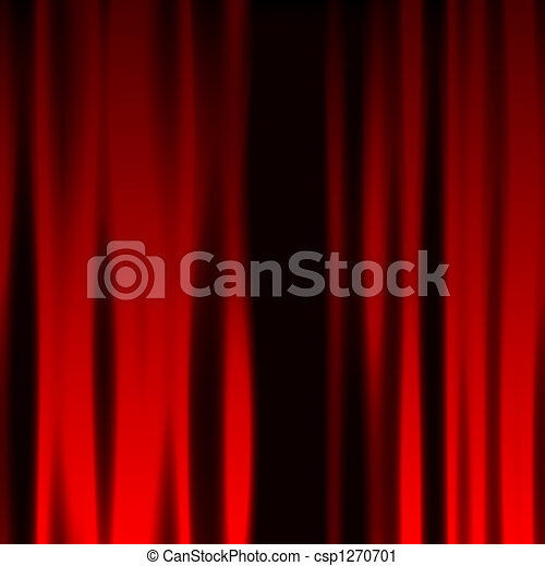 Red Curtain - csp1270701