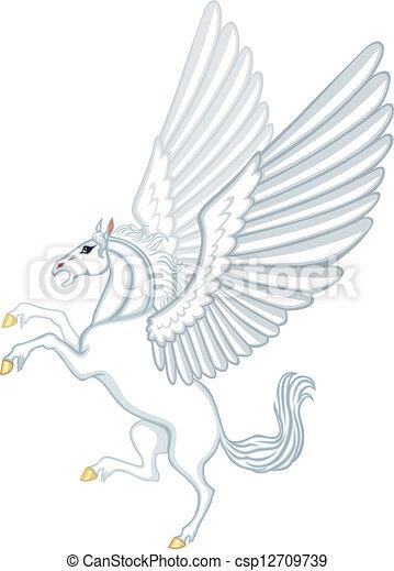 Vecteurs de p gase dessin anim cartoon image de a ail cheval csp12709739 - Comment dessiner un pegase ...