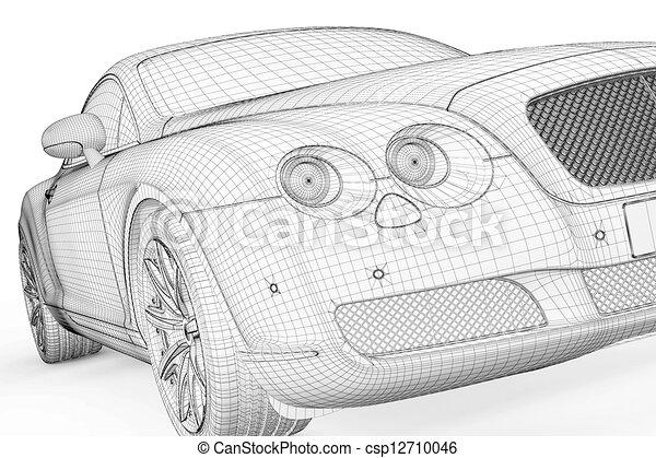 Dessin de voiture 3d mod le corps structure csp12710046 recherchez des illustrations clip - Modele dessin voiture ...