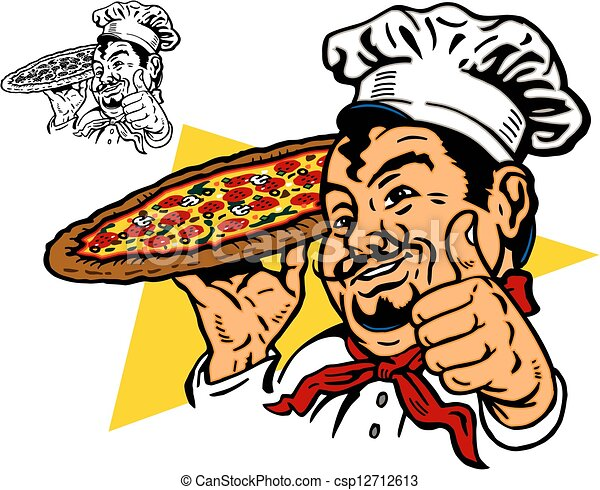 Pizza Chef Vector Chef With Pizza
