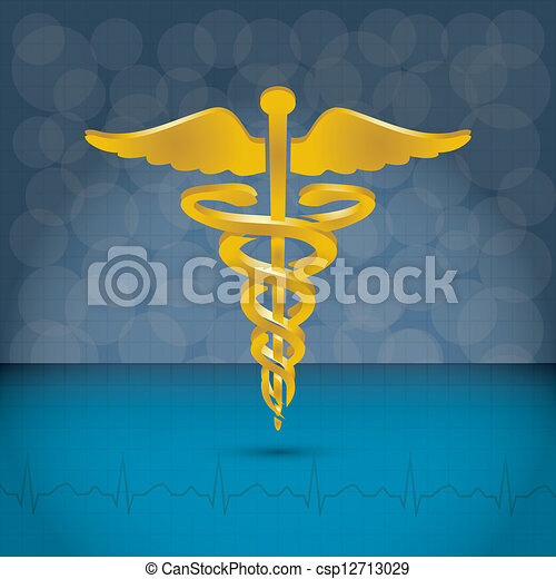 Caduceus medical symbol vector illustration. - csp12713029