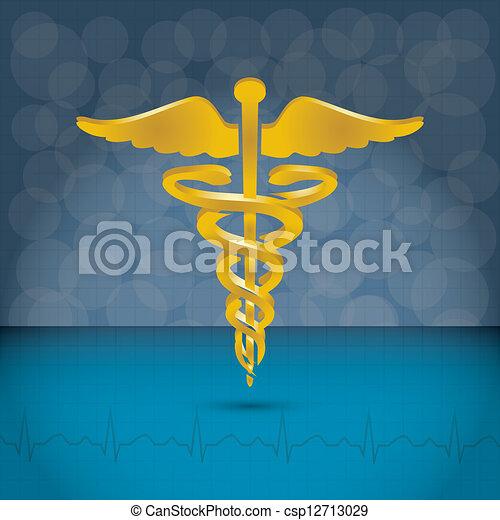 Caduceus medical symbol vector illustration. - csp12713029