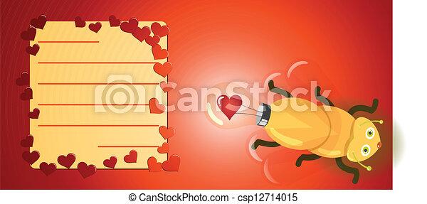 Firefly, licht, Liefde, bol - csp12714015