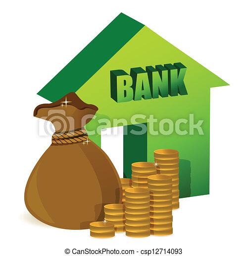 Eps vectores de pesos dinero banco bolsa banco con - Imagenes de bancos para sentarse ...