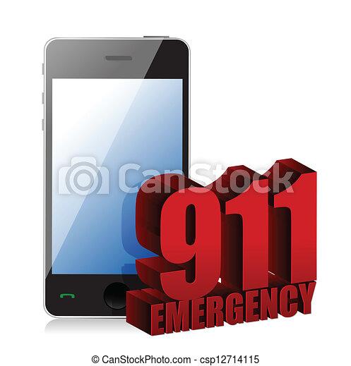Emergency Phone - csp12714115