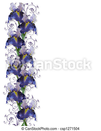 Iris Border Wedding Invitation - csp1271504