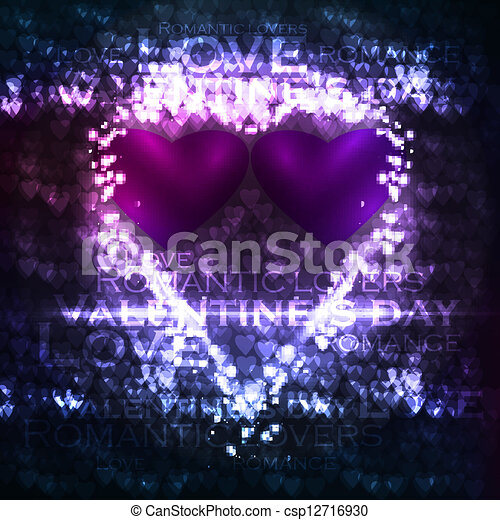 Vector valentines hearts illustration - csp12716930