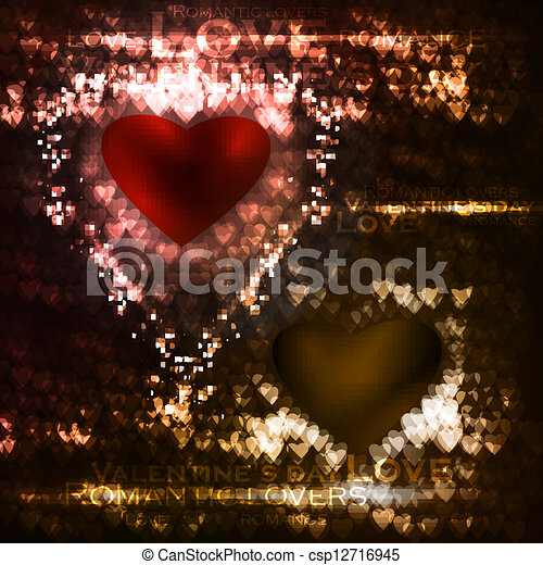 Vector valentines hearts illustration - csp12716945