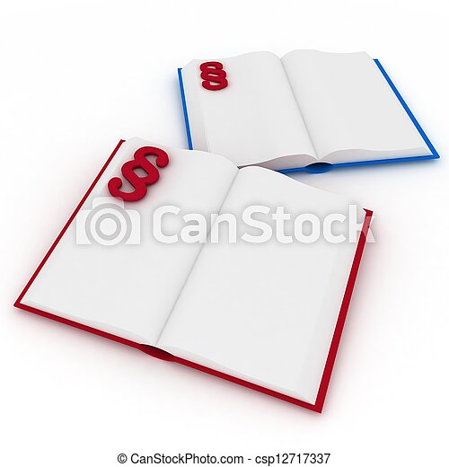 3d render illustration open books with a paragraph - csp12717337