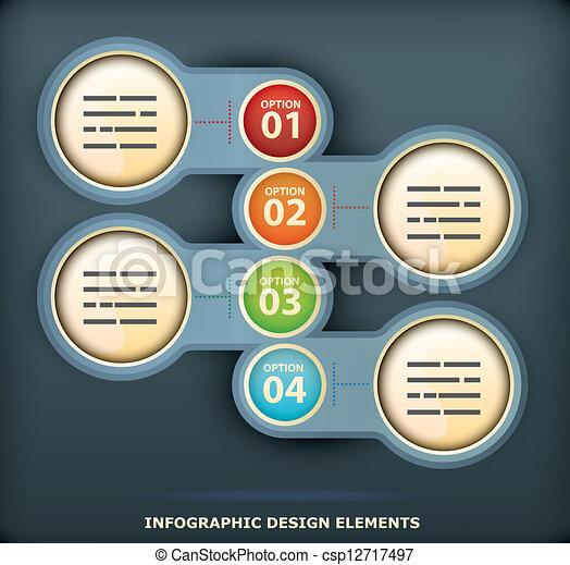 Infographic design element - csp12717497