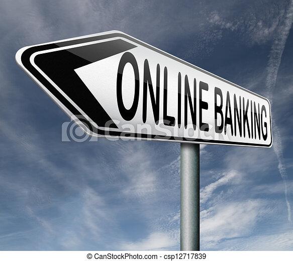 online banking - csp12717839