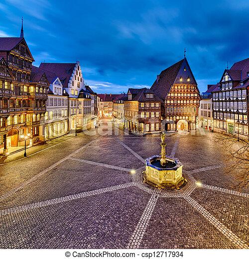 Historic old city of Hildesheim - csp12717934