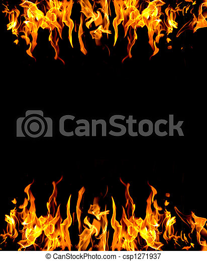 Abstract fire background - csp1271937
