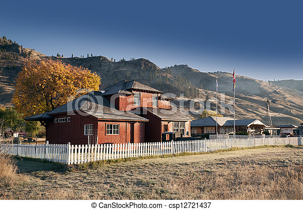 Historic village in the dry country - csp12721437