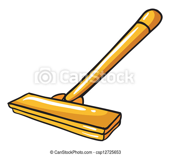 Mopping Clip Art Clipart vector of a yellow mop - illustration of a ...