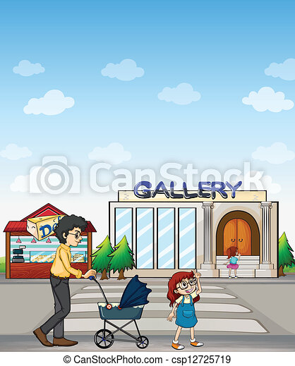 Clipart vettoriali di madre lei figlia camminare for Camminare in piani di progettazione dispensa