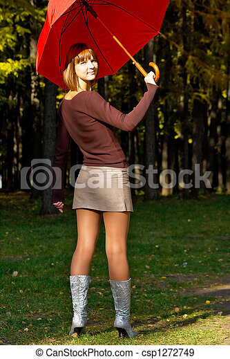 photo of girls with umbrellas № 22186
