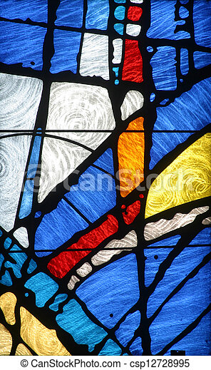 Stained glass church window - csp12728995
