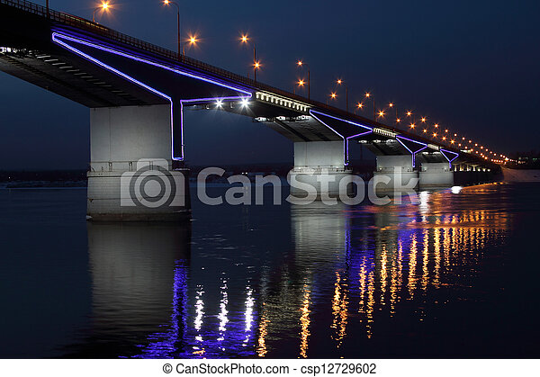 The automobile bridge. - csp12729602
