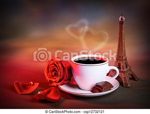 Morning tea in Valentine day - csp12732121