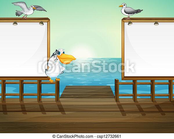 Birds in the port - csp12732661