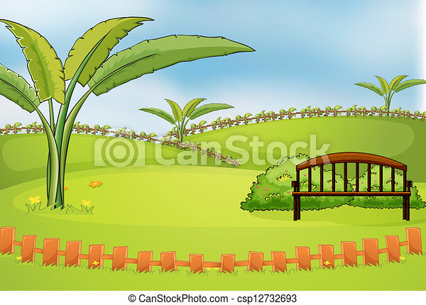An empty park - csp12732693