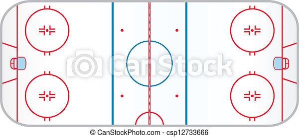 Clip art vecteur de hockey patinoire a hocky patinoire r aliste csp12733666 - Dessin patinoire ...
