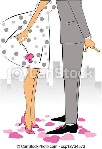 Valentine day kiss - csp12734573