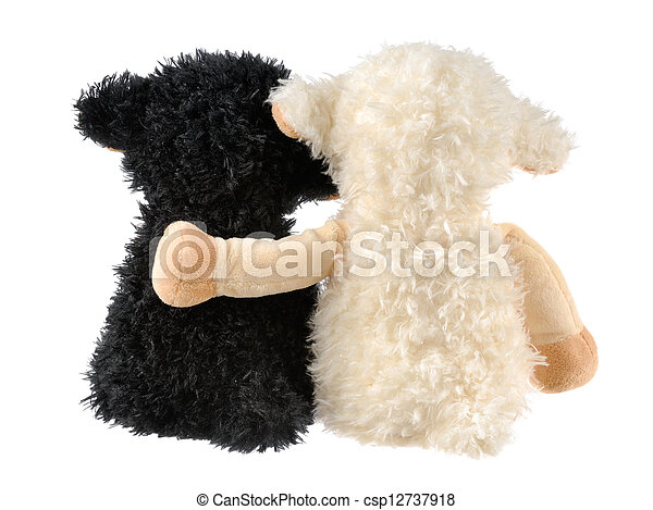 Two cute stuffed animals - csp12737918