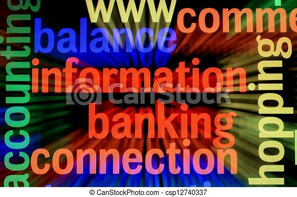 Balance information banking - csp12740337