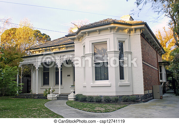 Home in a residential district of Melbourne - csp12741119