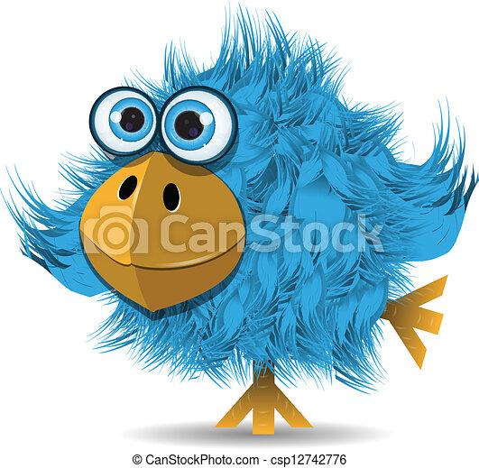 very funny blue bird - csp12742776