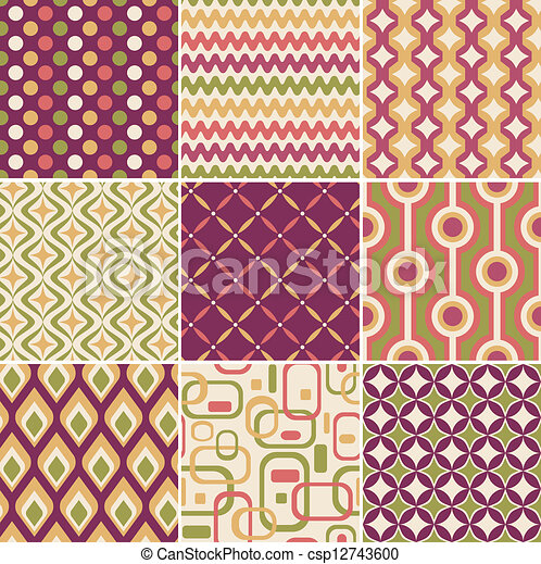 retro seamless pattern - csp12743600
