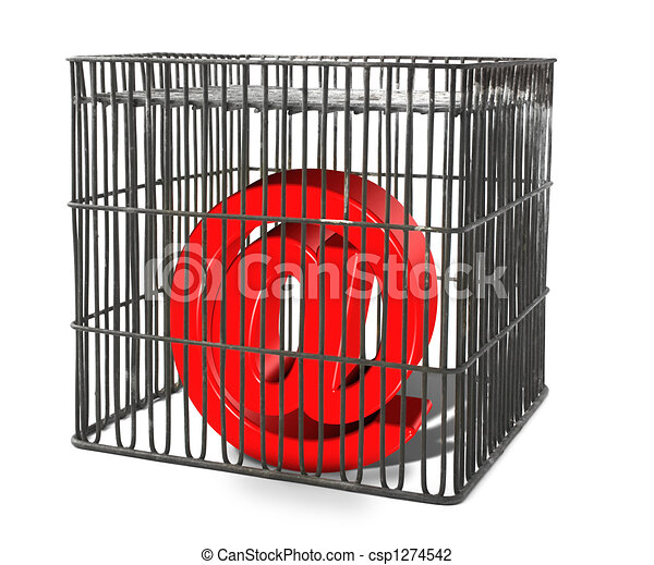 At sign trapped in a cage - csp1274542