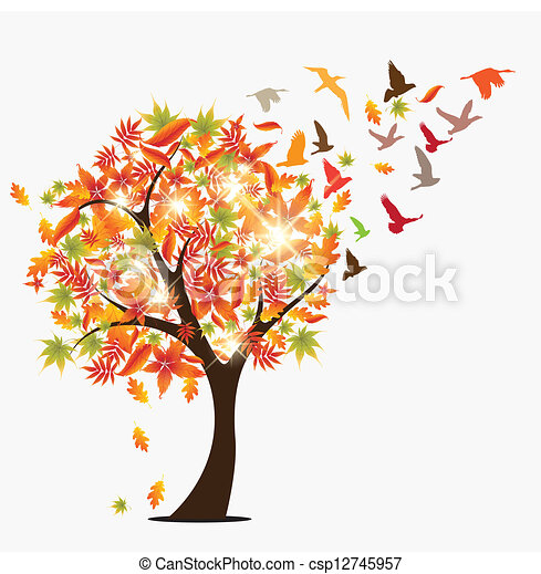 Autumn Season Drawing Autumn Tree Autumun Seasonal