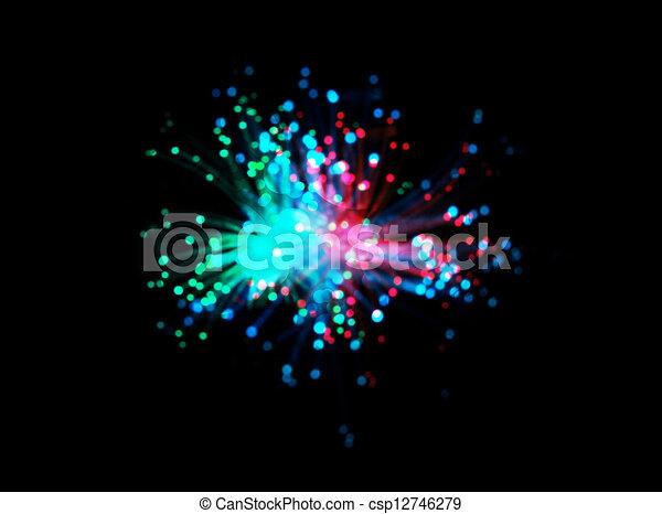 abstract fantasy firework - csp12746279