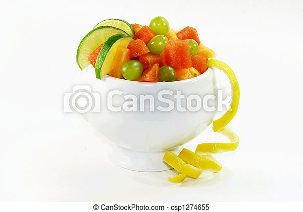 Assorted Fruit in a Fruit Salad
