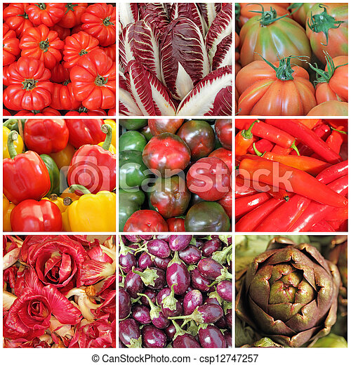 vegetable collage - csp12747257