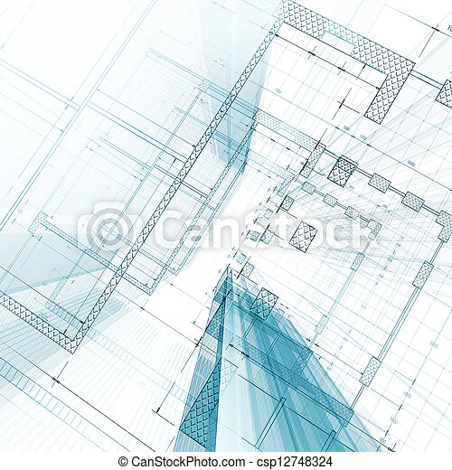 blåkopia, arkitektur - csp12748324