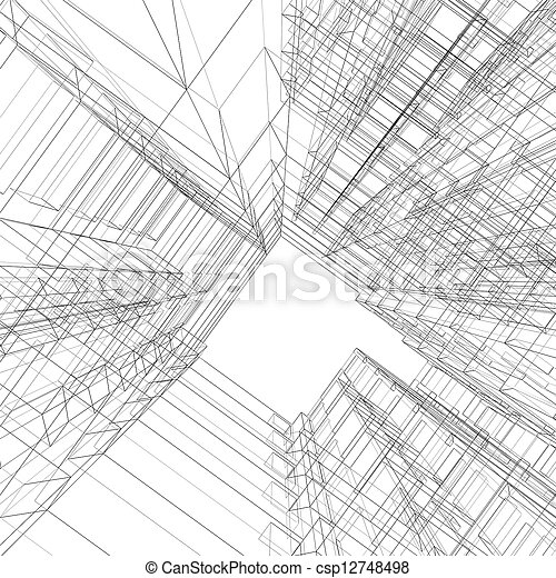 Abstract architecture - csp12748498