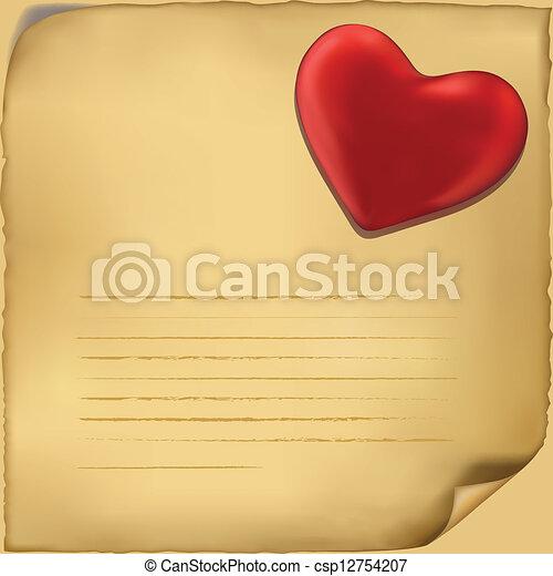 Liefde, achtergrond, illustratie, brief, pictogram, witte - csp12754207