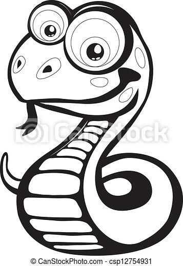 Vettori di cartone animato serpente divertente vettore for Serpente nero italiano