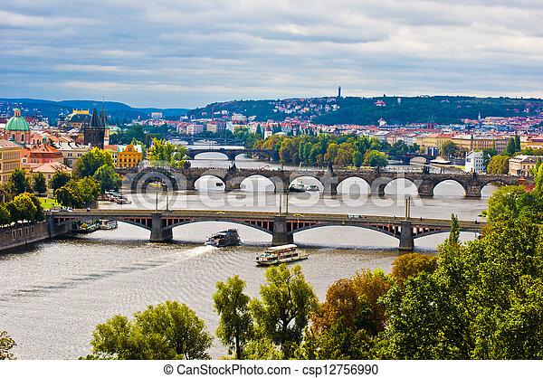 Bridges of Prague - csp12756990
