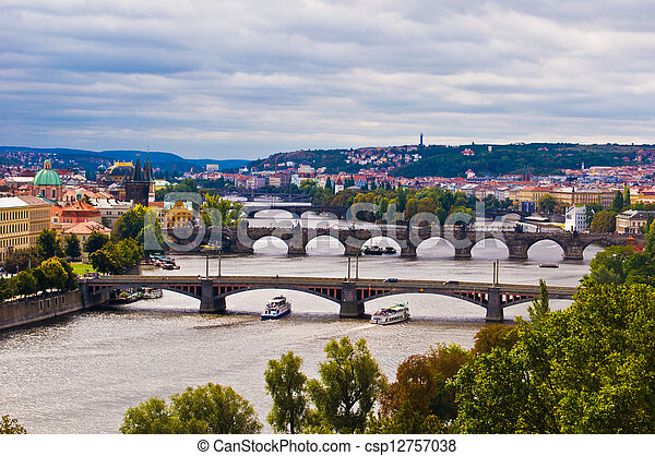 Bridges of Prague - csp12757038