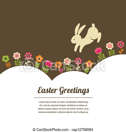 Easter vintage style greeting card - csp12758084