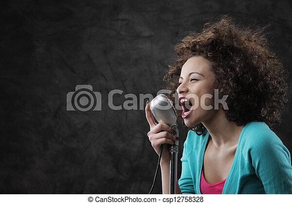 Female singer - csp12758328